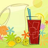 Retro Summer Refreshment (Vector)