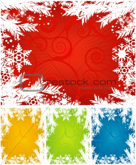 Snowflake Winter Background