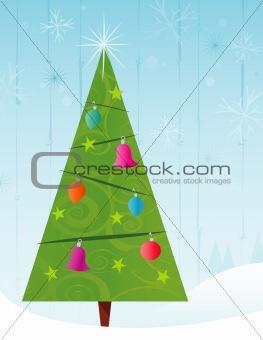 Retro-stylized Christmas Tree