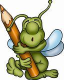 Sleeping green bug painter