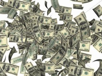 Firework of dollars