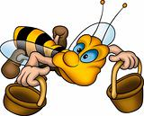 Flying wasp with baskets