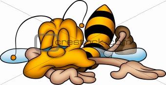 Sleeping sweet wasp