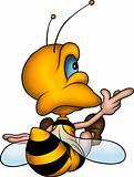 Sitting petite wasp