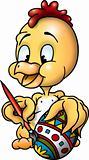 Chicken painter