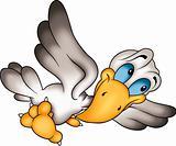 Humorous flying bird