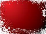 snowflake blank red