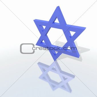 a blue star of David