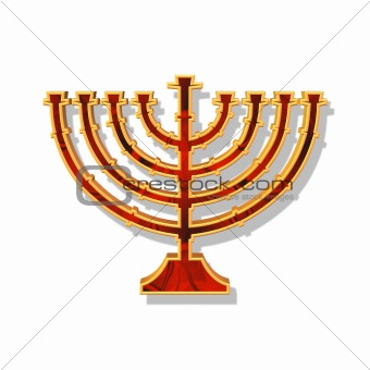 candlestick of hannukah