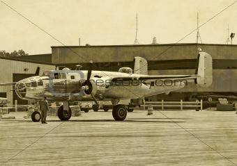American wartime bomber