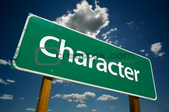 """Character"" Road Sign"