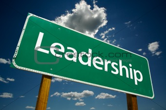 &quot;Leadership&quot; Road Sign