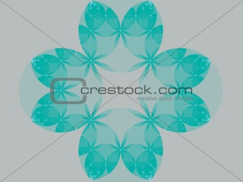 Abstract cyan flower