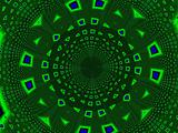 green tunnel of fractals