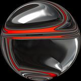 Black and red orb