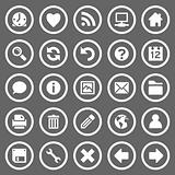 Simple round web icons