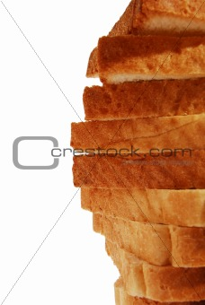 bread in slices closeup