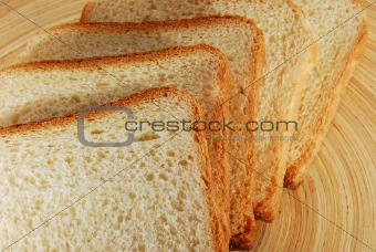 bread slices structure closeup
