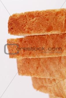 toast bread four pieces closeup