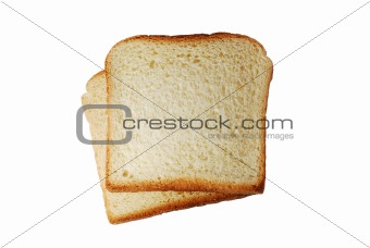 toast bread slices isolated