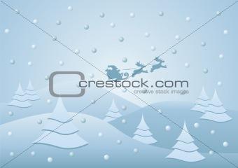Santa on his sledge