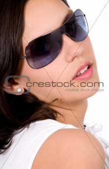 beautiful fashion girl with sunglasses