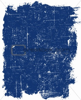 Grunge elements - Blue Grunge Square