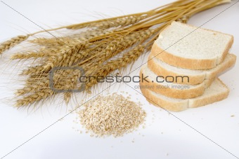 toast bread with crashed wheat