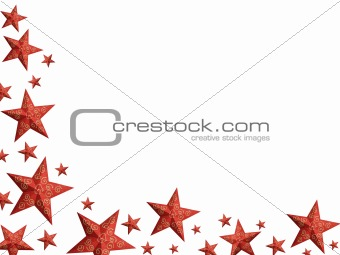 Bright red Christmas stars - isolated