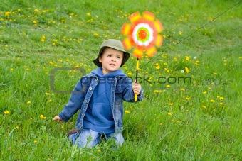 Boy in the wind