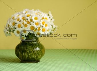 Big daisy bouquet in a vase