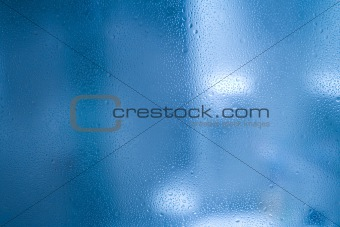 Waterdrops on glass