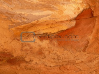 Close up of a sandstone formation, Rose City, Petra, Jordan