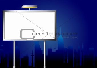 Advertising billboard by night