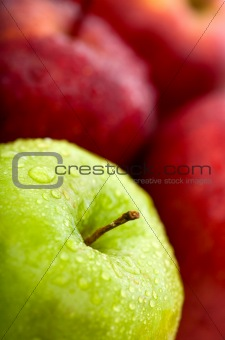 apples in green and red