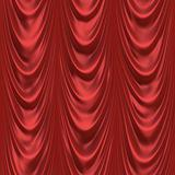 Silky red curtains