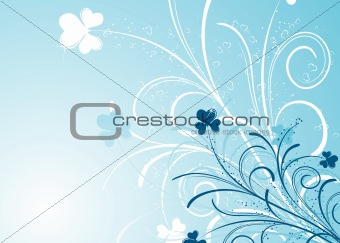 Foral background, vector