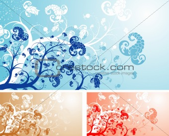Foral background
