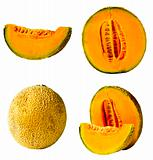 Fresh Cantaloupe Isolated