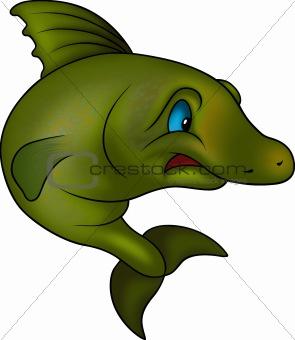 Green jumping fish