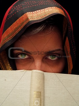 green eyed woman