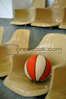 Chairs with basketball