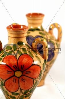 Ceramic pot with paint