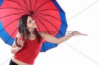 attractive woman whit umbrella