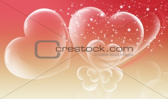 Abstract valentine's day card with bubble heart design