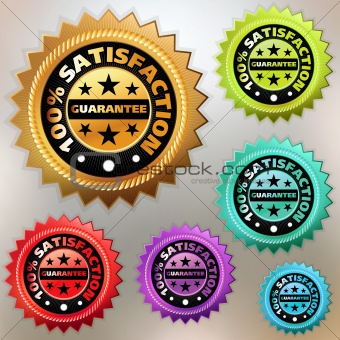 Vector multicolor satisfaction labels set. EPS 8