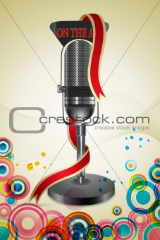 on the air text with mic
