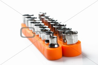 torx socket set isolated on white