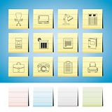 Business, office and firm icons