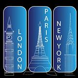 london, newyork and paris
